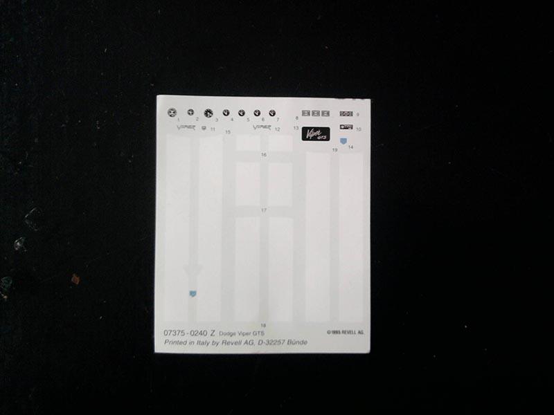 Revell Dodge Viper GTS 1:25 04_15