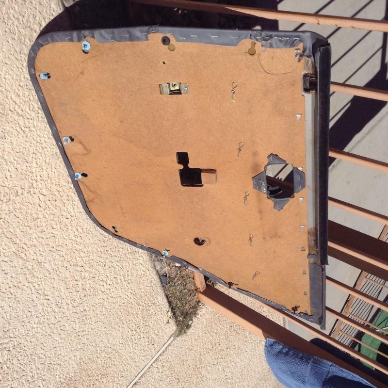 MX73 Rear left blue grey leather door panel Img_0213
