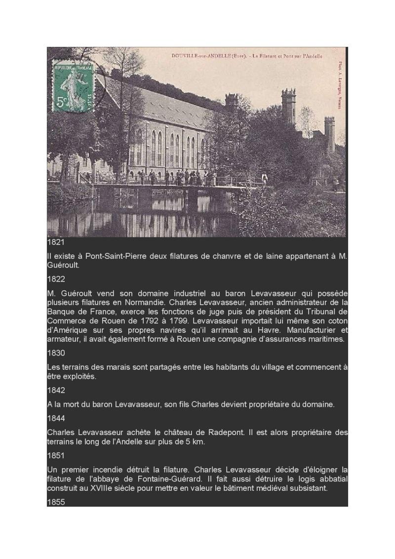 Lundi 30 Mars en passant par l'abbaye Fontaine Guérard et les filatures Abbaye11