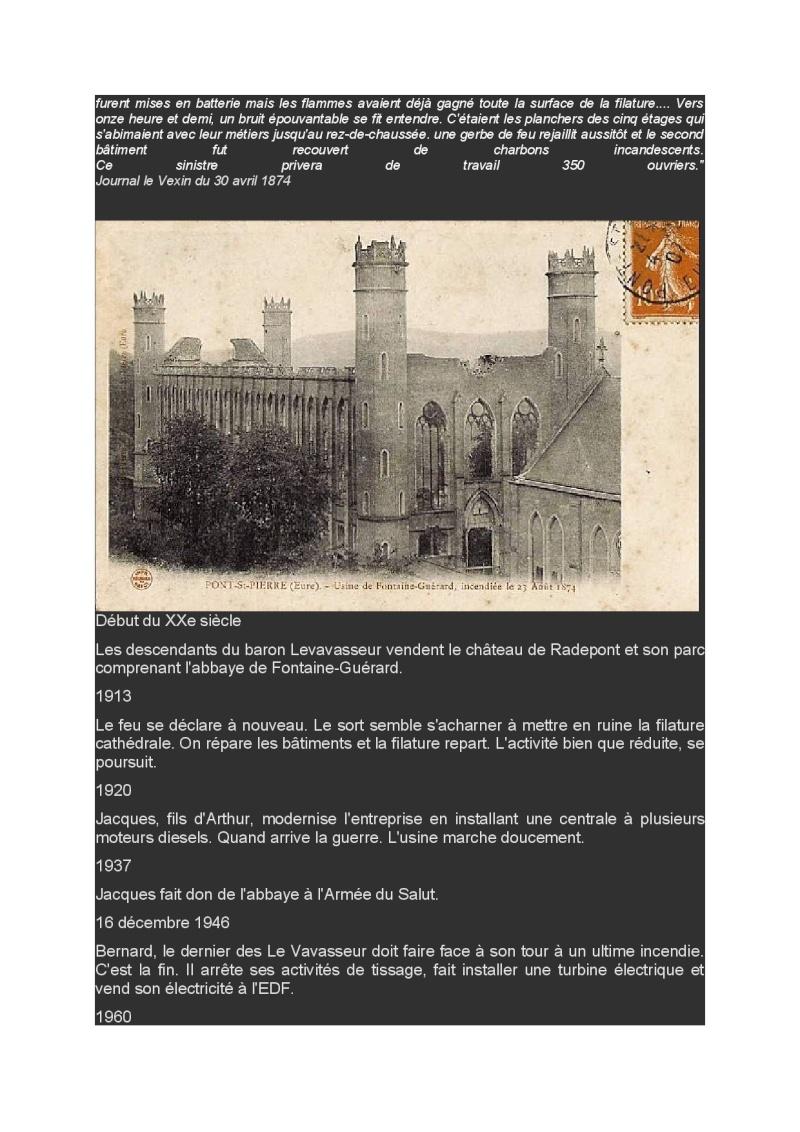 Lundi 30 Mars en passant par l'abbaye Fontaine Guérard et les filatures Abbaye14