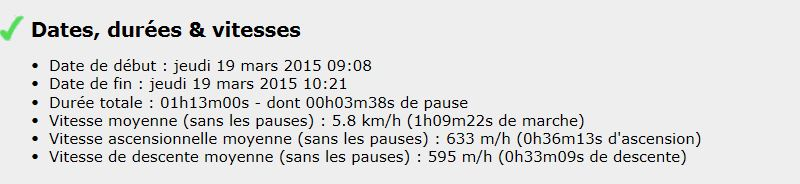 Séances du Lundi 16 et Jeudi 19 Mars  Parcours autour de Darnétal Stats_11