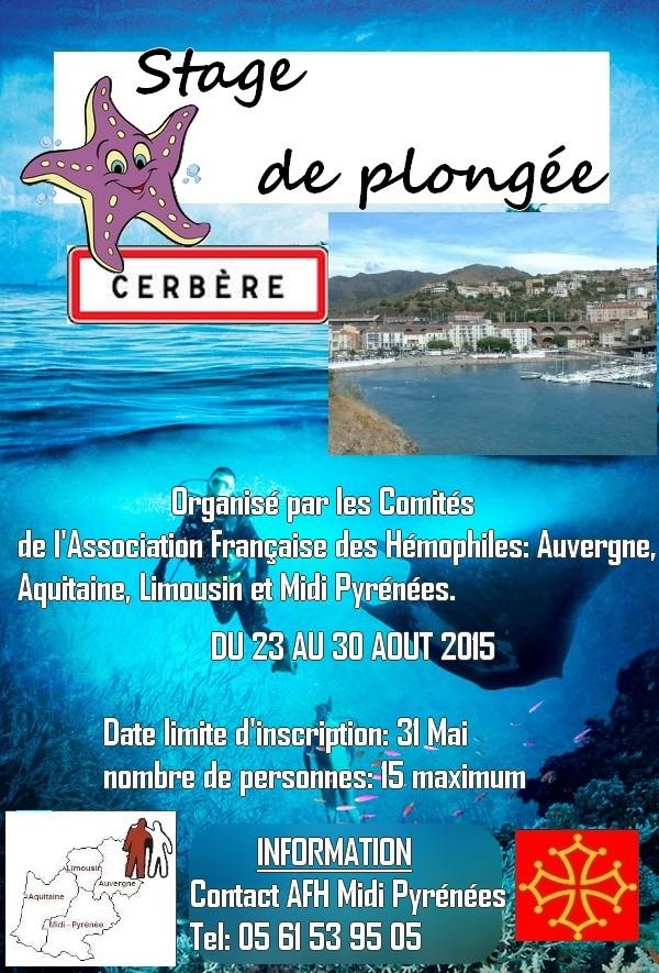 Plongée sous marine à Cerbère (Pyrénées-Orientales) du 23 au 30 Août 2015 Affich16