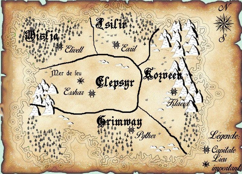 La carte des cinq royaumes Carte210