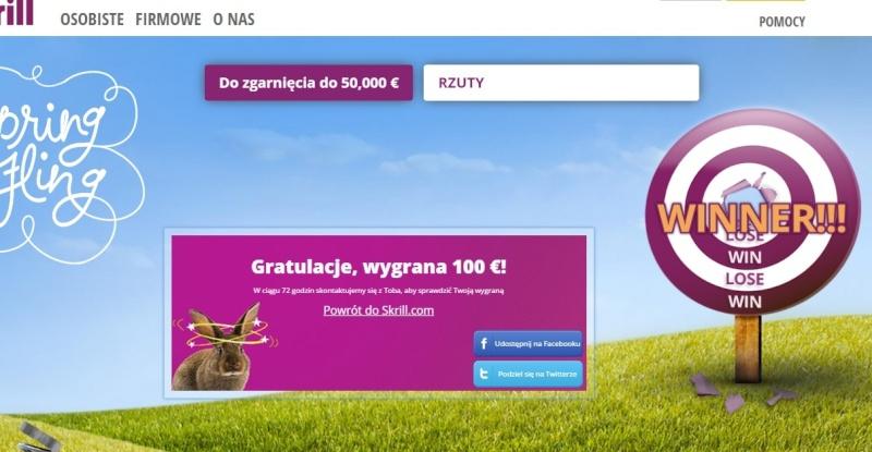 Jak daleko poleci Twój królik? 5-10=100=500=1000 euro skrill Skr10