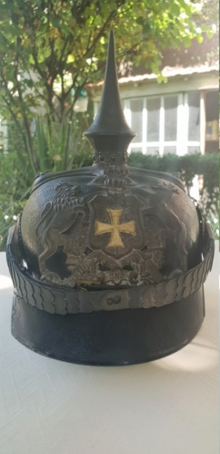 Casque à pointe nominatif d'un officier du 119è grenadier - Renseignements 20190813