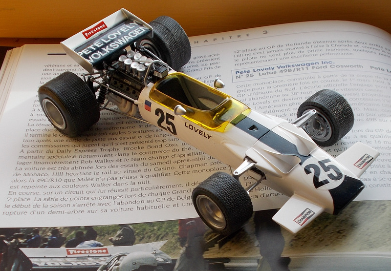 Lotus 49 formule 1 Pete Lovely GP de France 1970 Samedi12