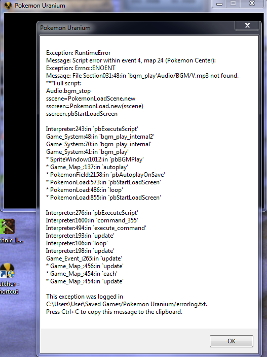 error when i load my old save file Screen10