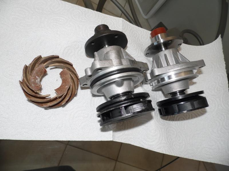 comparaison de différentes pompes à eau, récupération des morceaux de l'ancienne turbine par contrelavage Sam_1113