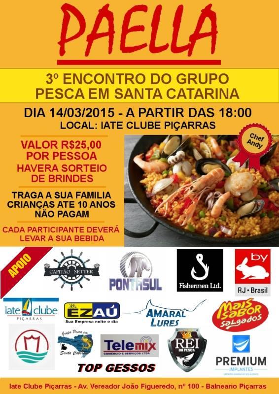 Terceiro encontro do Grupo Pesca em Santa Catarina  Cartaz10