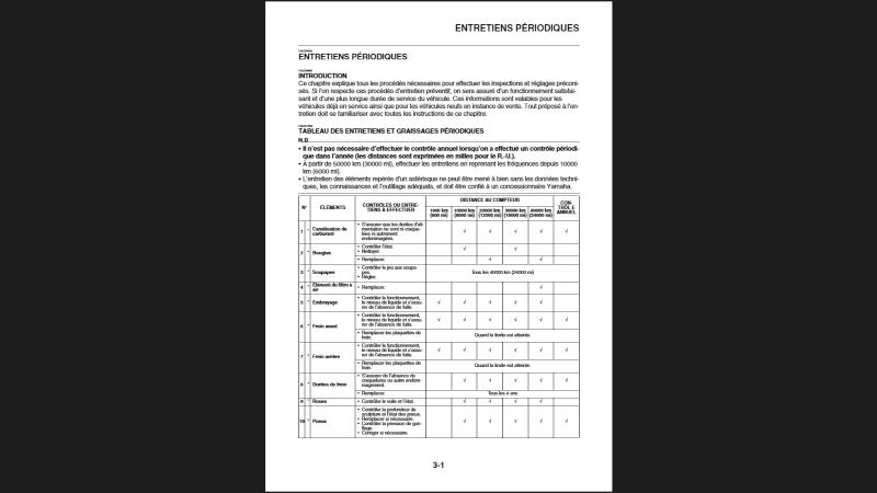 les révisions du Vmax 1700 Captur10