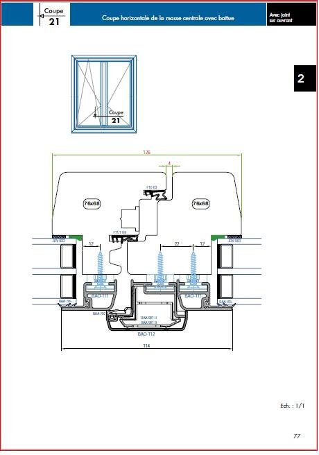 Projet et réalisation d'une double porte-battante thermique. Jointd10