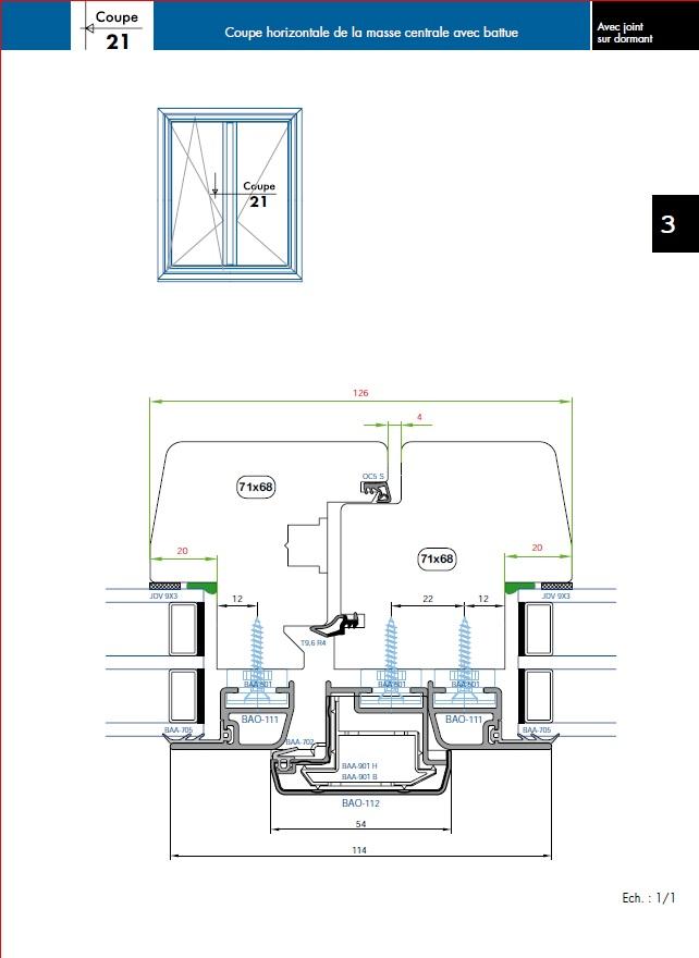 Projet et réalisation d'une double porte-battante thermique. Jointd11