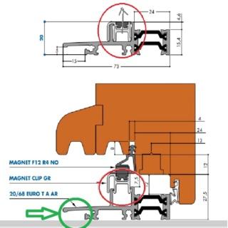 Projet et réalisation d'une double porte-battante thermique. Seuil_10