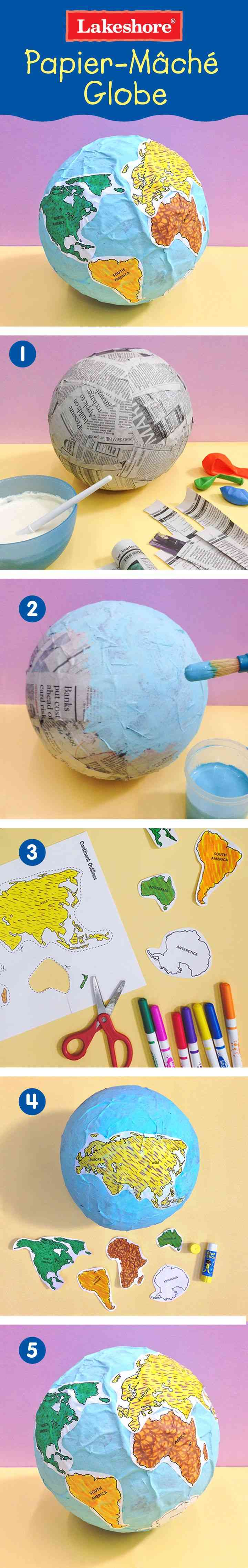 Great How-To for Paper Mache  Globes! 72ee2f11