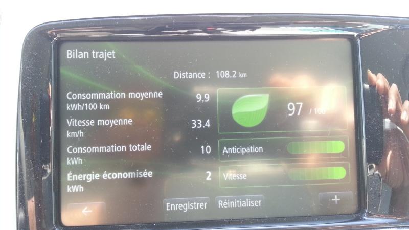 213,7 kilomètres avec 89% de batterie. 2015-020