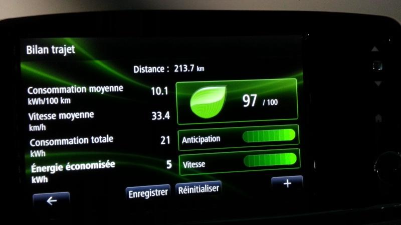 213,7 kilomètres avec 89% de batterie. 2015-023