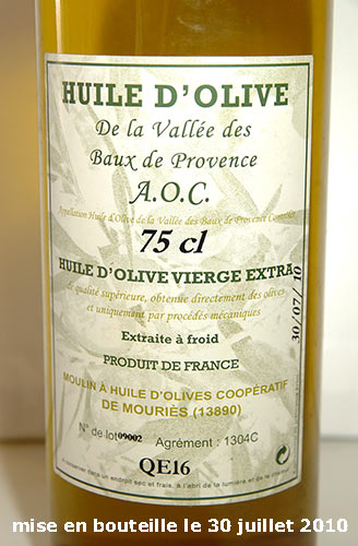 [VDS] Huile d'olive BIO extra vierge, qualité supérieure, 2010   18€ Bautre11
