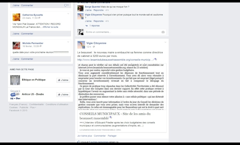 """ARTICLE SUR LA PAGE""""F-B"""" DE """"Vigie Citoyenne"""" -101_v10"""