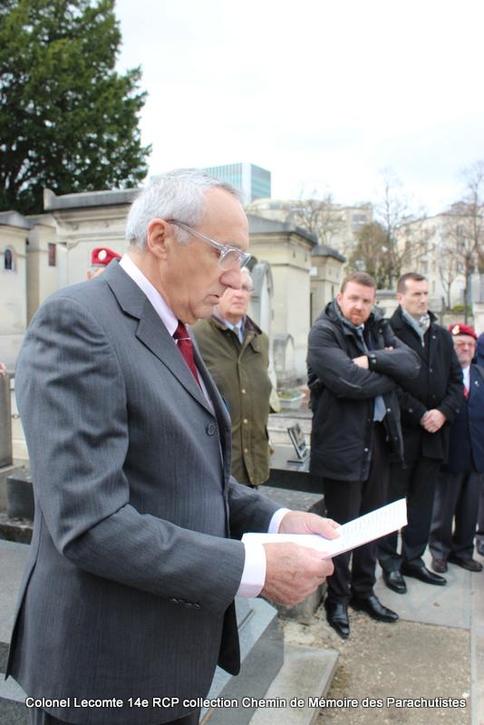 Reportage cérémonie d'hommage au lieutenant-colonel  LECOMTE, dernier chef de corps du 14ème RCP 29-img10