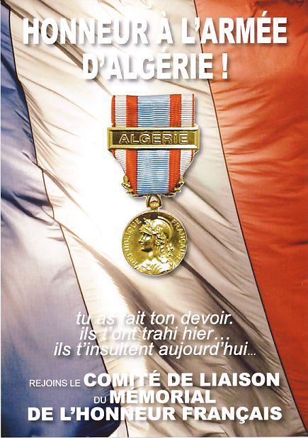 Honneur à l'Armée Française en Algérie Journée parainnée par le capitaine BONELLI ancien du 1er REP