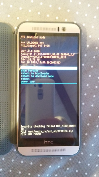 [TUTO HTC ONE M9] Comment unlocker le bootloader du HTC ONE M9 20150310