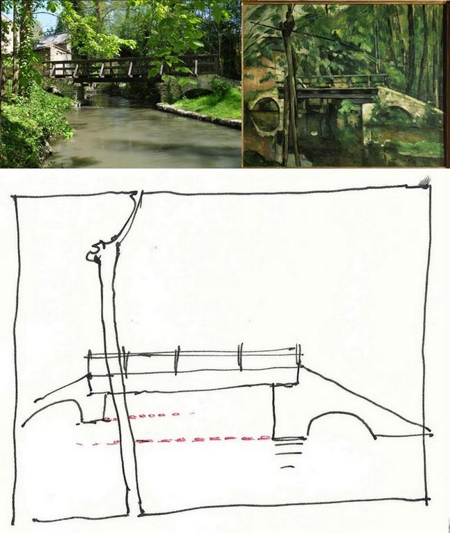 Cézanne... Pique nique au pont de Maincy Pontde10