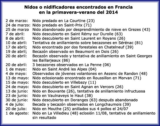 Informe 23 ONCFS-FRANCE de Octubre 2014 Sin_ty32