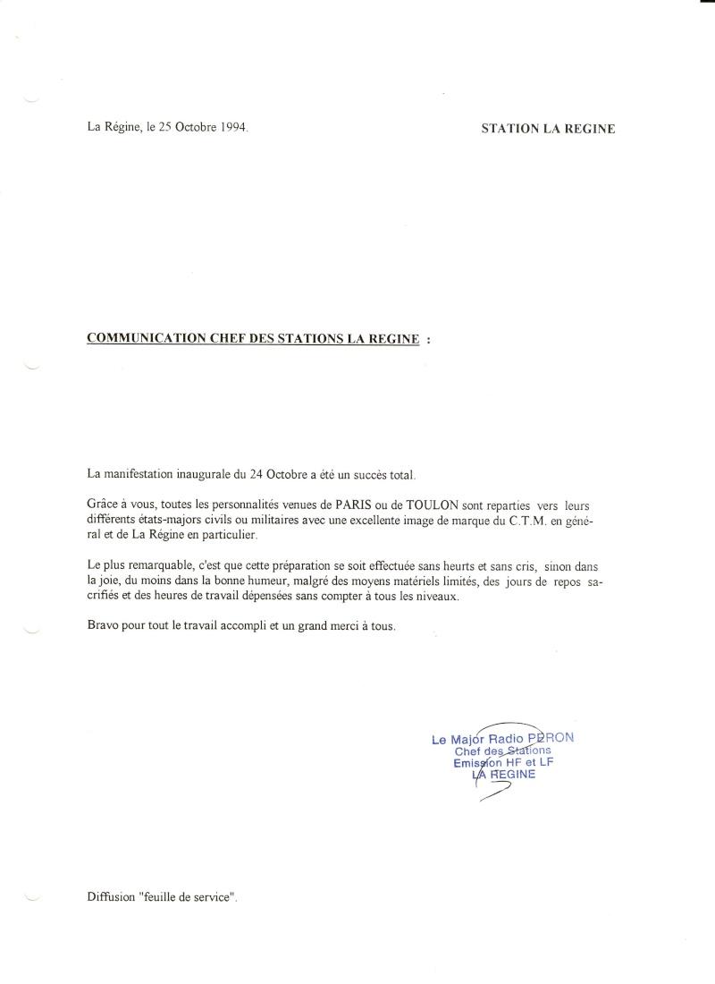 [ Les stations radio de télécommunications] Station radio La Régine Scan1010