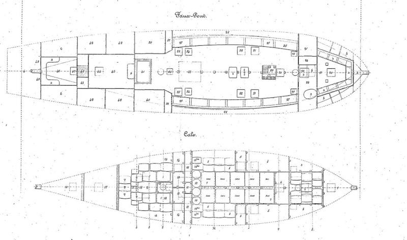 LA TOULONNAISE, goelette de 1823 au 1/75 par parellum, sous voiles, et photos Musée de la Marine - Page 2 Captur11