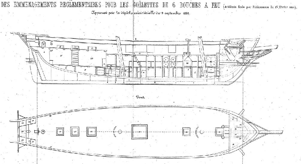 LA TOULONNAISE, goelette de 1823 au 1/75 par parellum, sous voiles, et photos Musée de la Marine - Page 2 Emmyna12