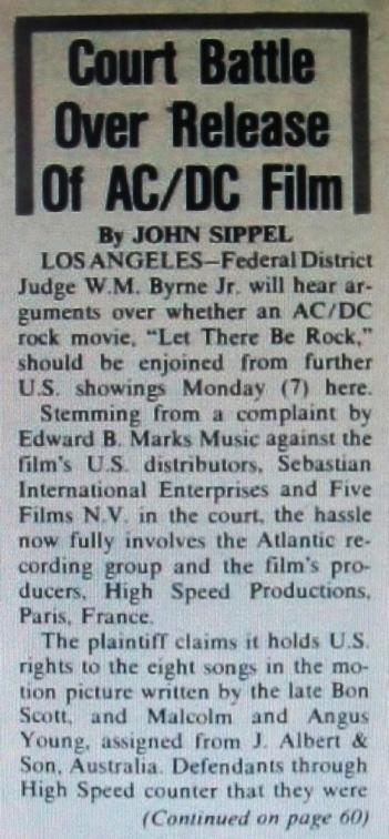 1981 - Legal battle 157