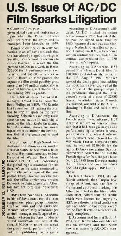 1981 - Legal battle 252