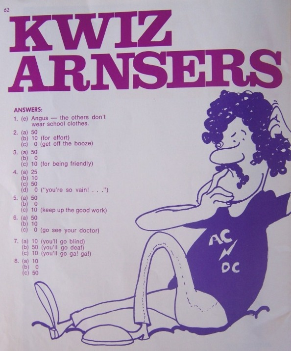 "Kwiz....""the AC/DC book"" (songbook) 331"