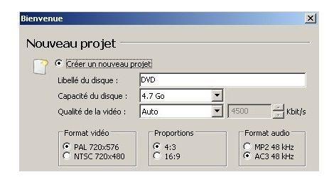 Création d'un projet sous DVDStyler 2c50d910