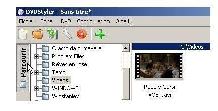Création d'un projet sous DVDStyler 824d2010