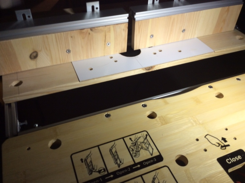 Electro-portatifs sous table (d'inspiration Festool, Woodpeckers, Wolfcraft...) et aménagements atelier  Img_0031