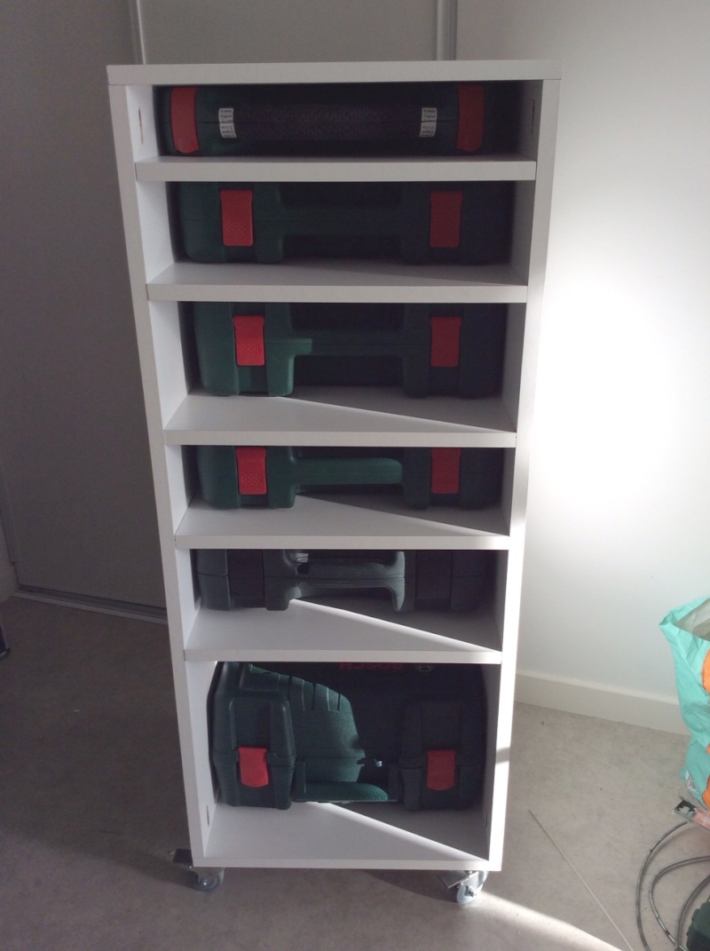 Electro-portatifs sous table (d'inspiration Festool, Woodpeckers, Wolfcraft...) et aménagements atelier  Rack_b10