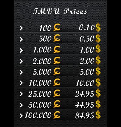 ~> Credits to USD Converter Imvu12