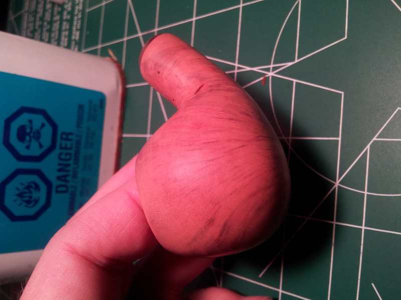 Peeling finish after 2 smokes: Adventure Bent Apple 20150412