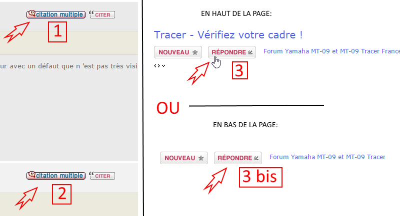 Comment faire une citation multiple ? => Mode d'emploi Screen23