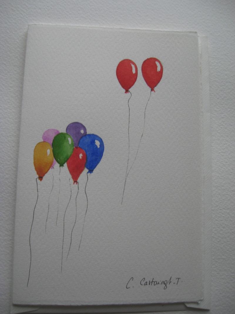 galerie de Céline_aquarelle Ballon10