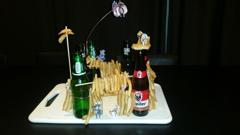 [REALISATION] Défi chateau de frites et bouteille de biere lol 20150312