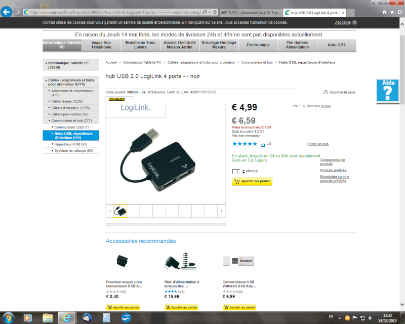 prise usb top case - TUTO - Alimentation USB Top Case + Voltmètre Hub10