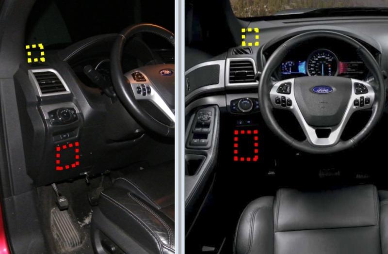 Emplacement du contrôleur de freins Dash-210