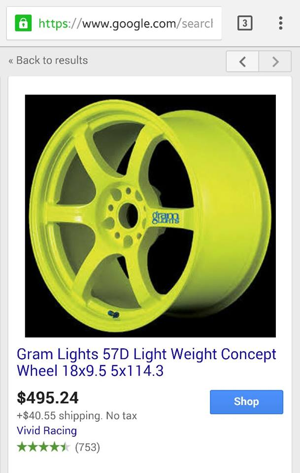 FS: 18x9.5 Gram Light 57DRs +22et/Nexen 265/35/18 tires 98895110