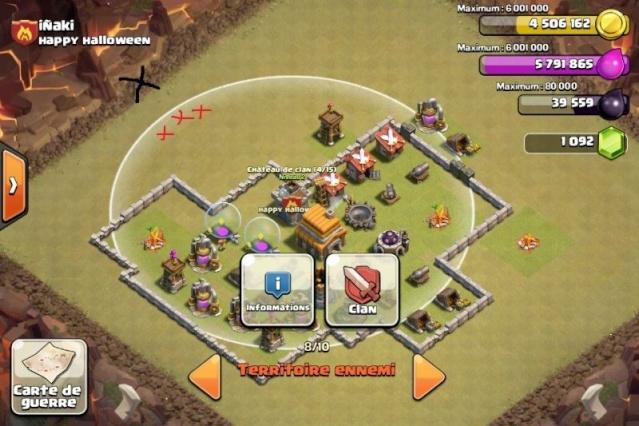 Vider le château de clan ennemi lors d'une attaque à bas niveau. Img_4113