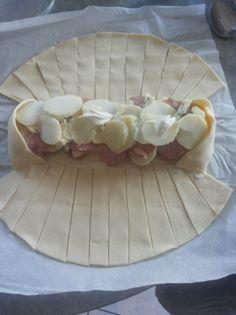feuilleté de légumes, viande, fromage. Feuill10