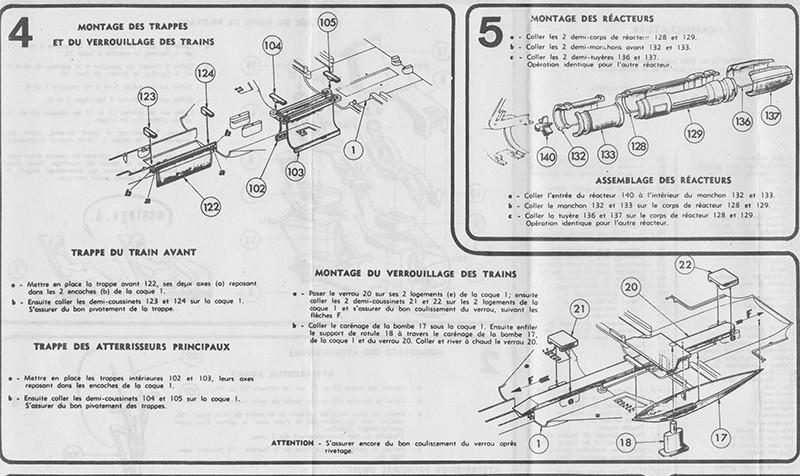 DASSAULT MIRAGE IV-01 1/50ème Réf L 830 Notice Mirage12