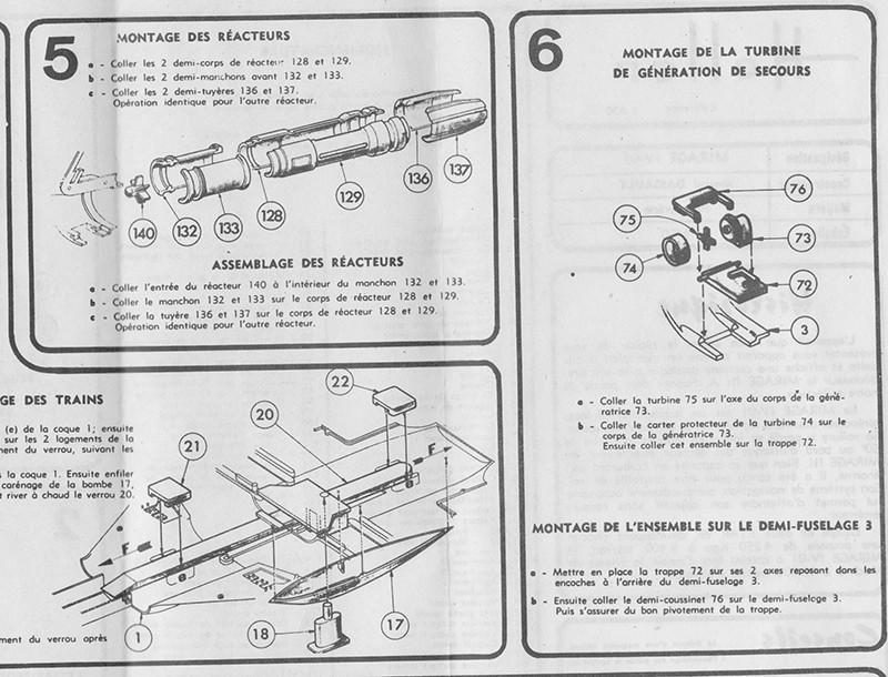 DASSAULT MIRAGE IV-01 1/50ème Réf L 830 Notice Mirage13