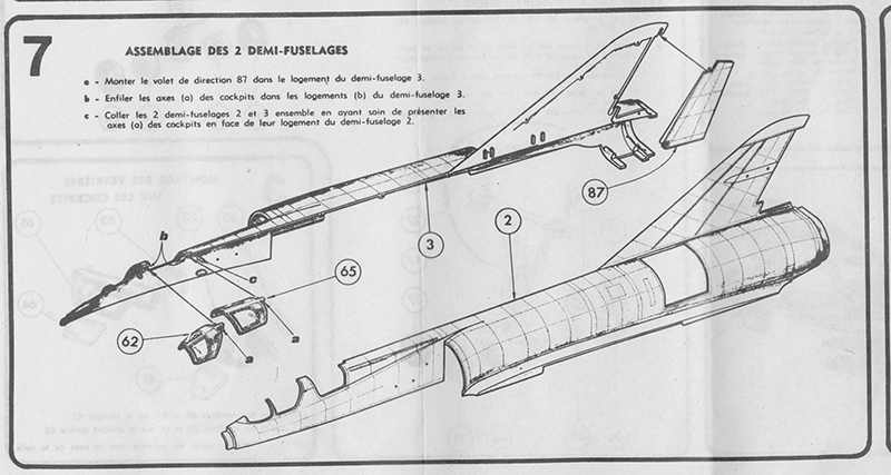DASSAULT MIRAGE IV-01 1/50ème Réf L 830 Notice Mirage14